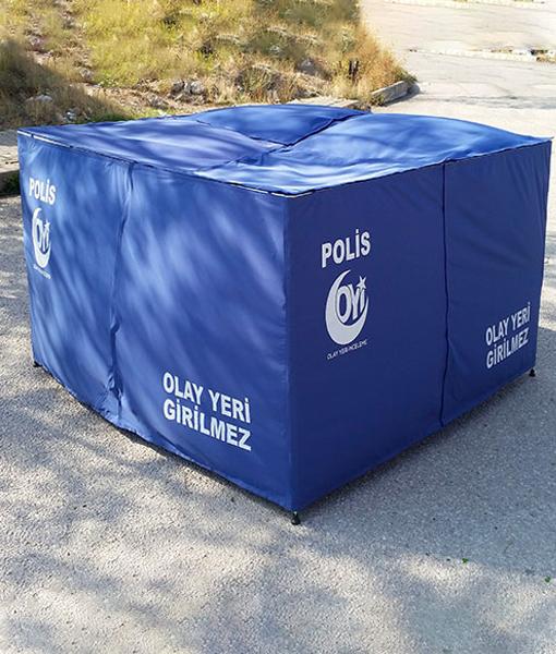 polis açık alan çadırı