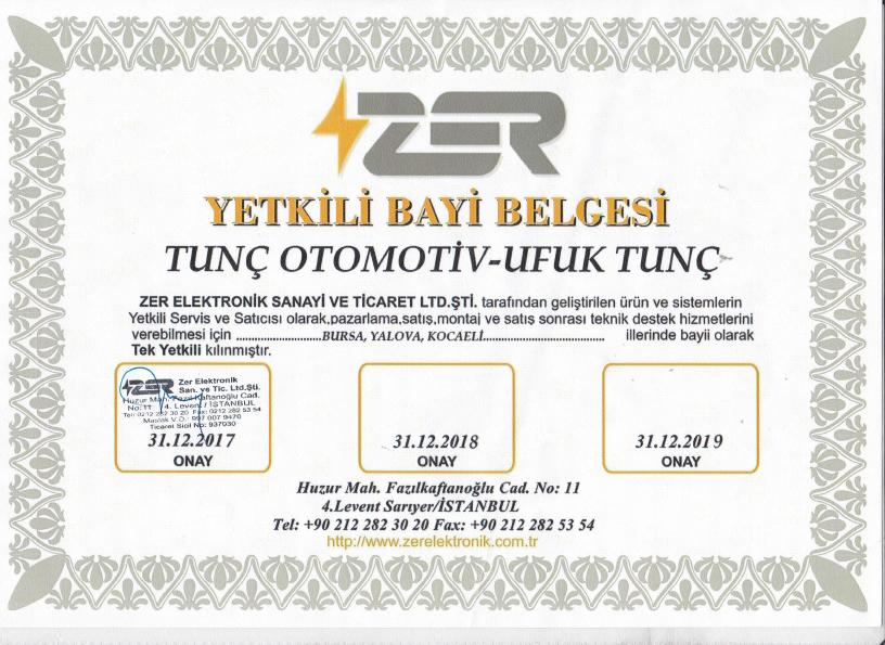 Bursa, Yalova, Kocaeli ZER Bayisi